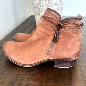 Lucky Brand Bartalino Brown Leather Booties 7.5